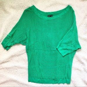 Express Green 3/4 Sleeve Shirt